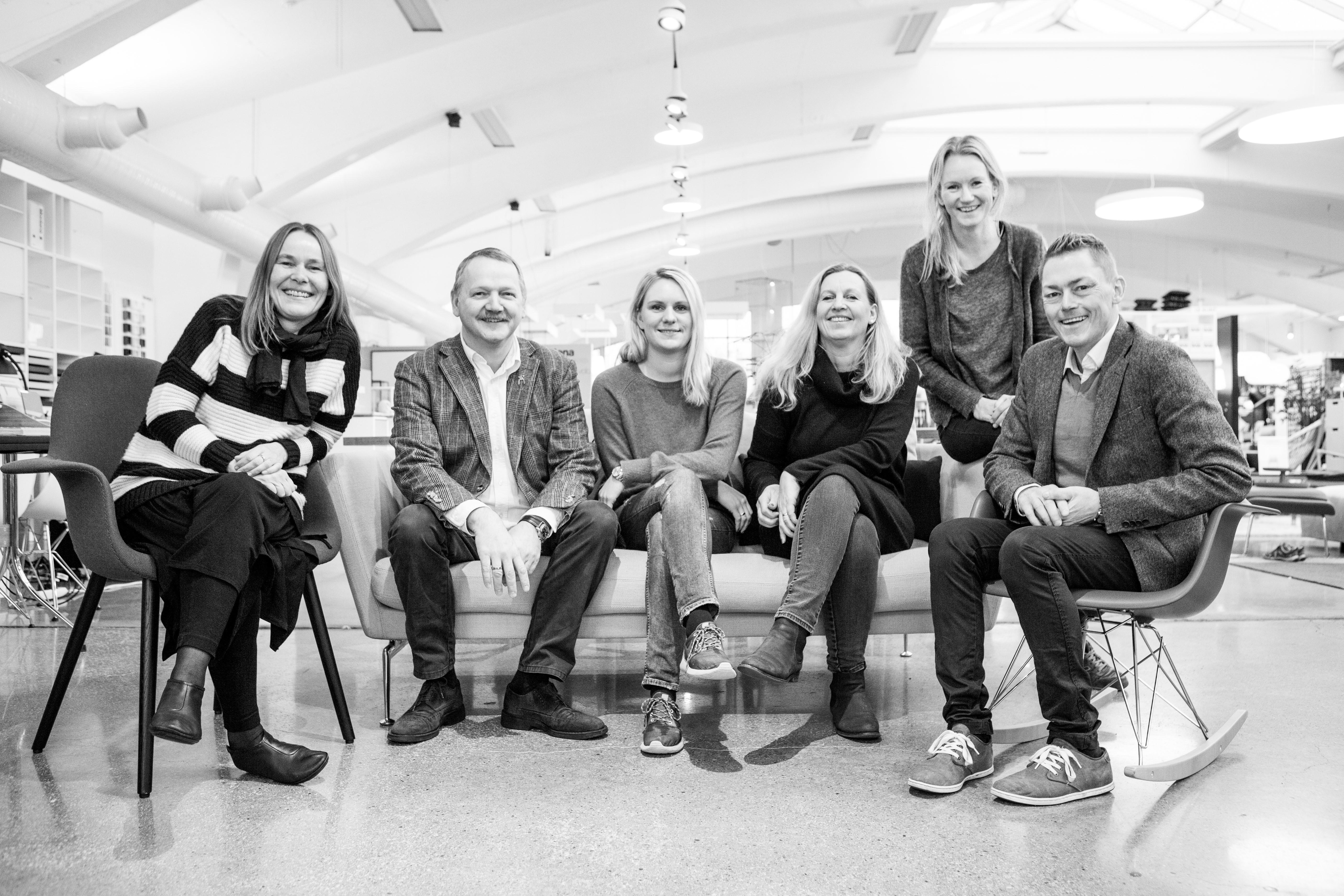 Gjengen på Møbelgalleriet