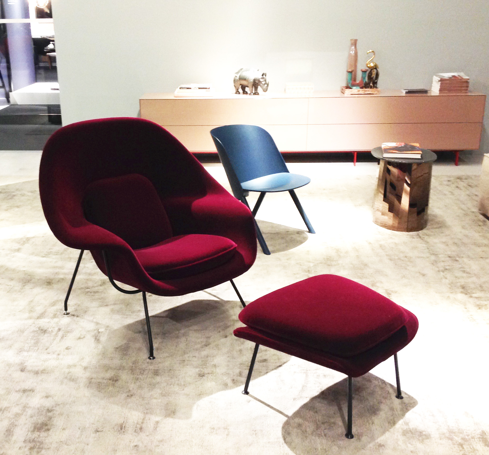 Womb Chair fra Knoll, design: Eero Saarinen