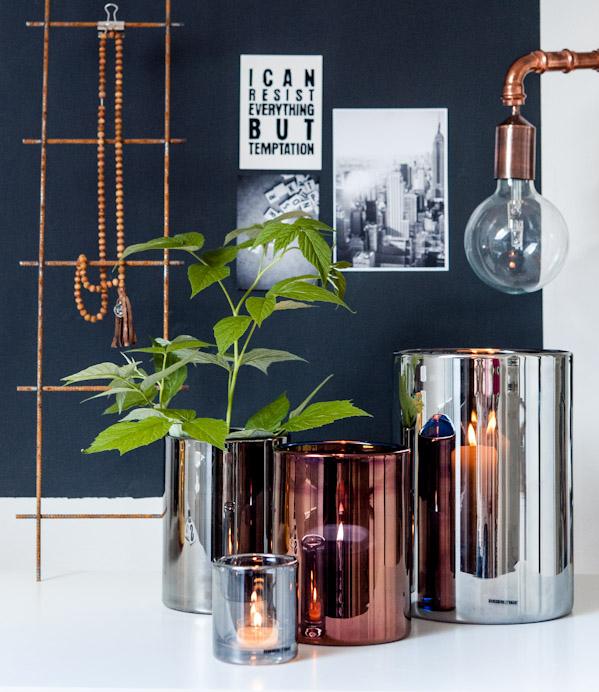 Lykter og vaser fra Skogsberg & Smart - vi har inne i flere ulike farger og størrelser.
