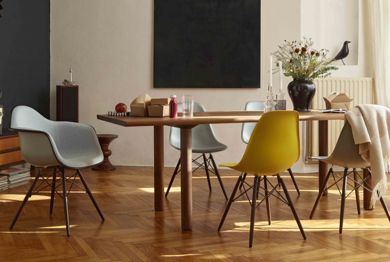 DSW Eames plastic side chair, Charles & Ray Eames, 1950
