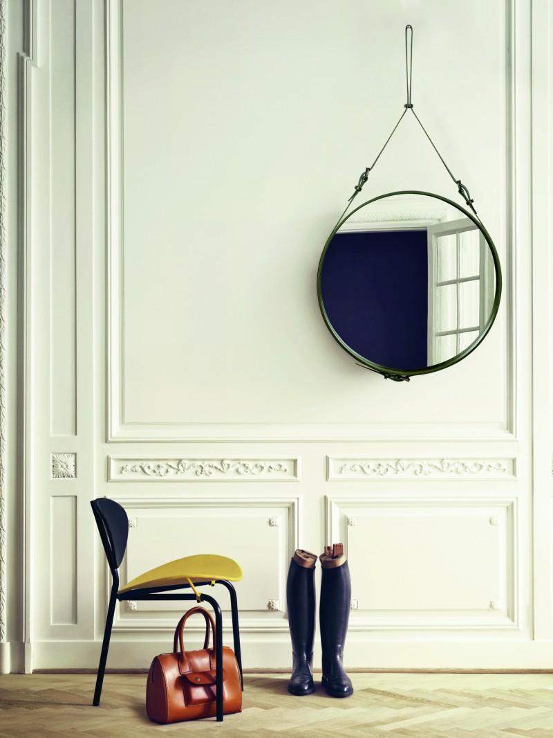 Adnet speil fra Gubi, design: Jacques Adnet