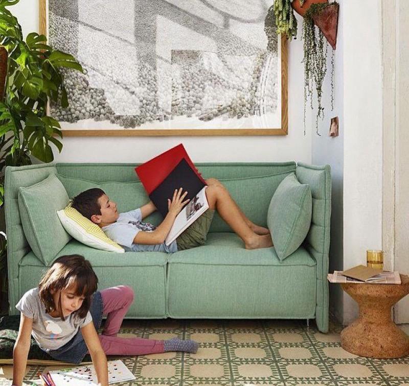 Sofa med regulerbar rygg og sider fra Vitra
