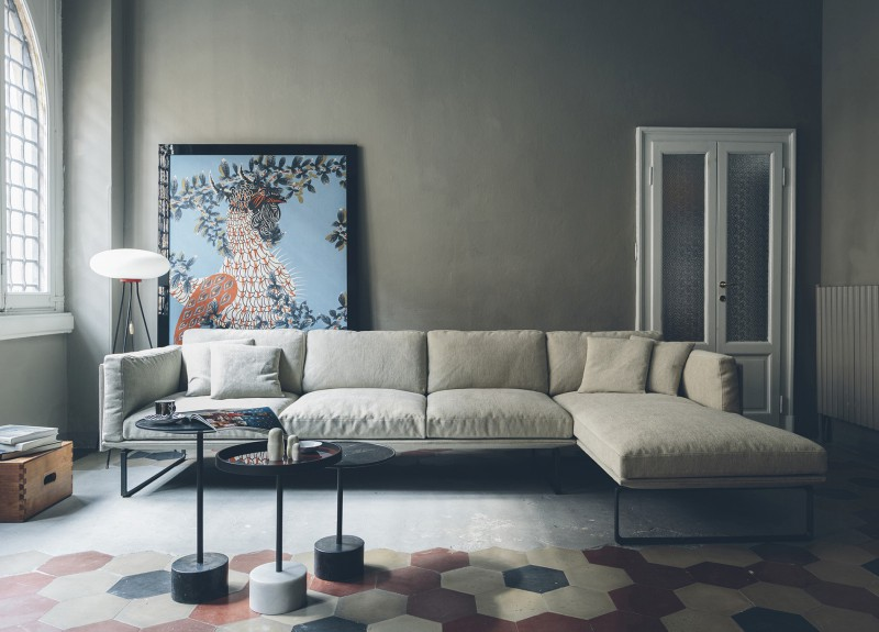 Otto sofa fra Cassina, design: Piero Lissoni