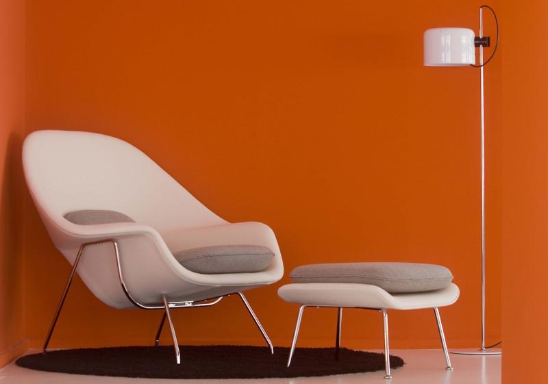 Womb chair fra Knoll, designet av Eero Saarinen